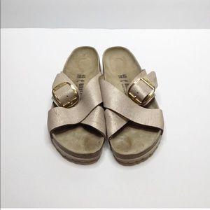 Birkenstock Siena Rose Gold Sandals Size 40